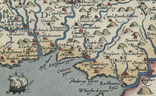 trimsaran 1578 saxton map_sml